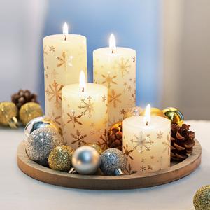 Dekoračné sada so sviecky Biele Vianoce