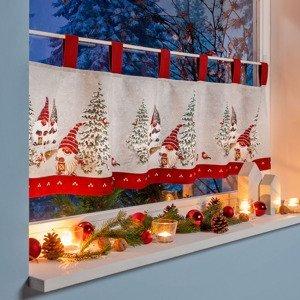 Záclonka Vianočný škriatok, 45 x 155 cm