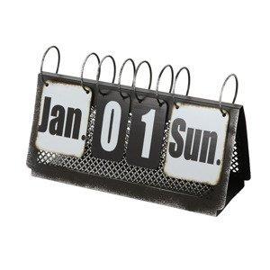 Dekoratívny stolný kalendár Aristo, čierny