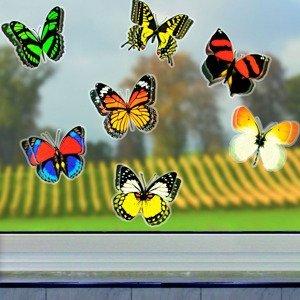 3D Nálepky Motýle, 12 kusov