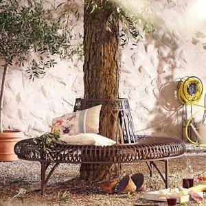 Stromová lavička Versailles polkruhová, kovová