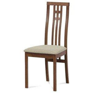Sconto Jedálenská stolička AMANDA čerešňa/béžová