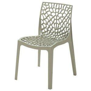 Sconto Jedálenská stolička GRUVYER sivá