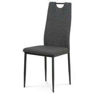 Sconto Jedálenská stolička LEILA sivá/antracit