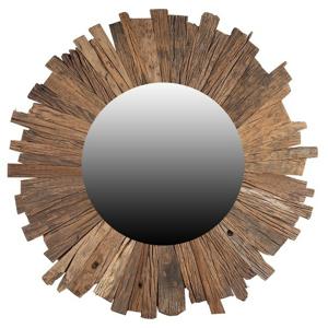 Sconto Zrkadlo SLEEPER prírodná, Ø 60 cm