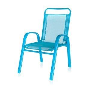 HAPPY GREEN Detská záhradná stolička stohovateľná modrá 50XT2930A