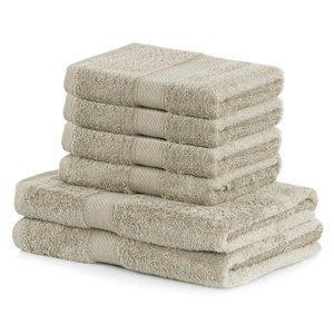 DecoKing Sada uterákov a osušiek Bamby béžová, 4 ks 50 x 100 cm, 2 ks 70 x 140 cm