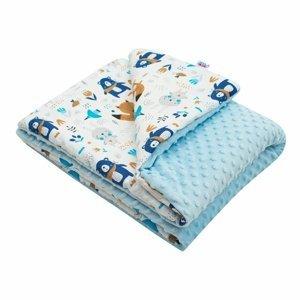 New Baby Detská deka z Minky Medvedíci ružová, 80 x 102 cm