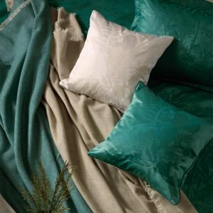 Stella Ateliers Dekoračná damašková obliečka na vankúšik Juna béžová, 40 x 40 cm
