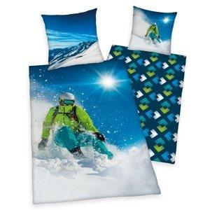 Herding Bavlnené obliečky Skiing, 140 x 200 cm, 70 x 90 cm