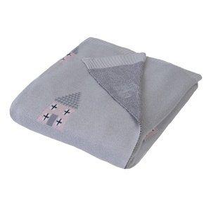 Babymatex Detská deka Pattern sivá, 80 x 100 cm