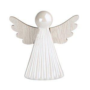Altom Vianočná dekorácia Anjel, biela