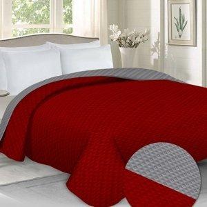 Domarex Prehoz na posteľ Laurin červená/sivá, 220 x 240 cm