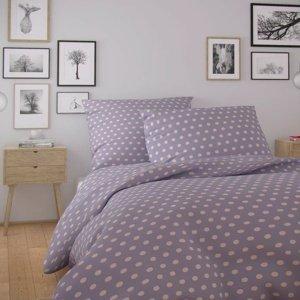 Kvalitex Bavlnené obliečky Nordic Olava fialová, 140 x 200 cm, 70 x 90 cm