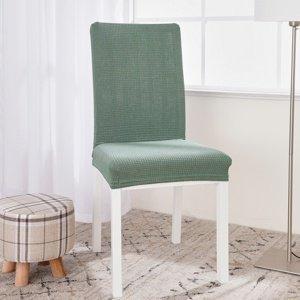 4Home Napínací vodeodolný poťah na stoličku Magic clean zelená, 45 - 50 cm, sada 2 ks