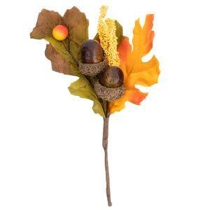 Jesenná dekoračná vetvička so šípkami, 18 cm