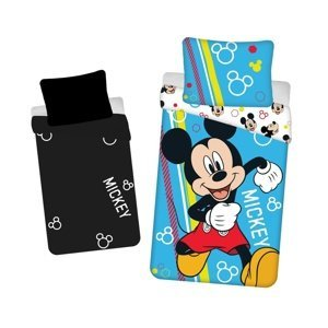 Jerry Fabrics Detské bavlnené obliečky Mickey happy svietiace, 140 x 200 cm, 70 x 90 cm