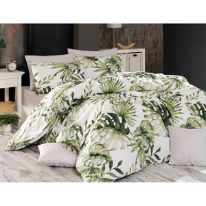 BedTex Bavlnené obliečky Botanic zelená, 140 x 200 cm, 70 x 90 cm