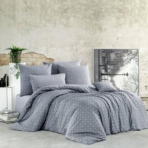 BedTex Bavlnené obliečky Gudrun sivá, 220 x 200 cm, 2 ks 70 x 90 cm