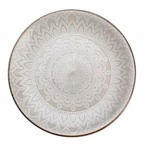 Florina Keramický dezertný tanier Maroko 20 cm, sivá