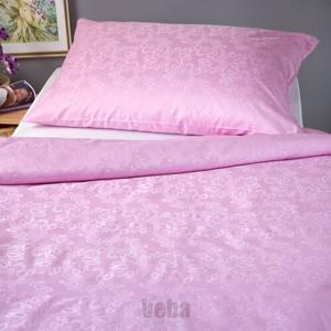Veba Damaškové obliečky Geon Bubliny ružová, 140 x 200 cm, 70 x 90 cm