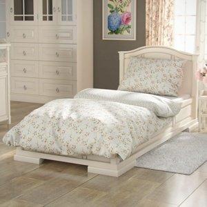 Kvalitex Bavlnené obliečky Provence Rose zelená, 140 x 200 cm, 70 x 90 cm