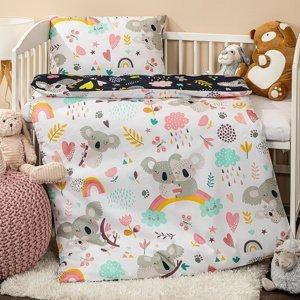 4home Detské bavlnené obliečky do postieľky, 100 x 135 cm, 40 x 60 cm