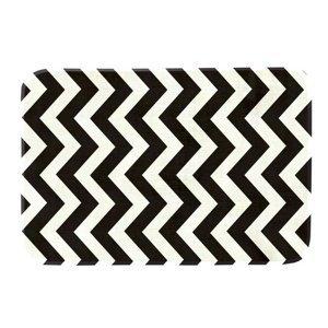 Domarex Koberček z pamäťovej peny Noir and Blanc čiernobiela, 50 x 80 cm