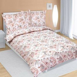 Bellatex Saténové obliečky Ruže sivoružová, 140 x 200 cm, 70 x 90 cm
