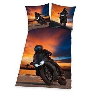 Herding Bavlnené obliečky Motorcycle, 140 x 200 cm, 70 x 90 cm