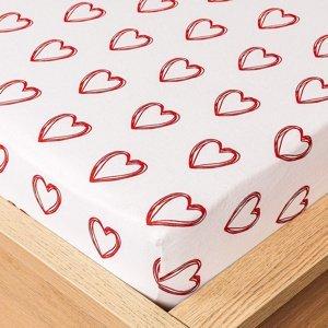 4Home jersey prestieradlo In love, 160 x 200 cm