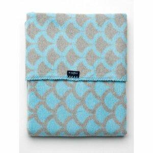 Womar Detská bavlnená deka so vzorom modro-šedá, 75 x 100 cm