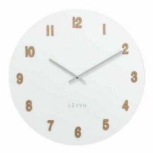 Lavvu LCT4070 drevené hodiny White, pr. 50 cm