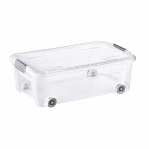 Tontarelli Úložný Combi box s kolieskami 29,5 l, transparentná