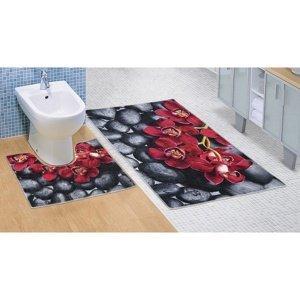 Bellatex Kúpeľňová predložka Orchidea 3D, 60 x 100 + 60 x 50 cm