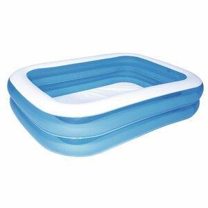 Bestway Modrý štvorhranný rodinný bazén, 201 x 150 x 51 cm
