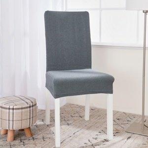 4Home Napínací vodeodolný poťah na stoličku Magic clean svetlosivá, 45 - 50 cm, sada 2 ks
