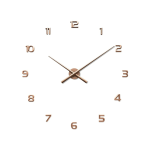 Lavvu LCT1173 Nalepovacie hodiny 3D Sticker Rose Numerals, ružová