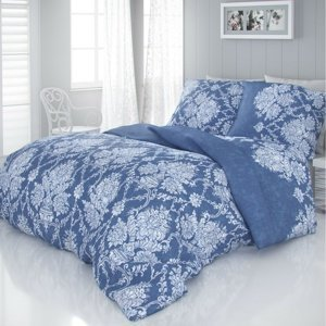 Kvalitex Saténové obliečky Vintage modrá, 140 x 200 cm, 70 x 90 cm