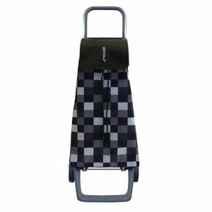 Rolser Nákupná taška na kolieskach Jet Dama Joy, čierno-biela