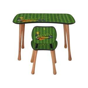 Detský stolík so stoličkou Futbal, 90 x 52 x 60 cm