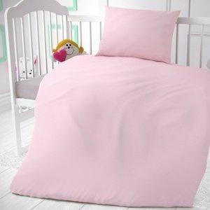 Kvalitex Bavlnené obliečky do postieľky ružová, 90 x 135 cm, 45 x 60 cm