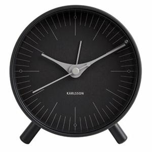 Karlsson 5777BK dizajnový budík, 12 cm