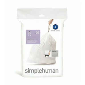 Vrecia do odpadkového koša 30-45 L, Simplehuman typ J, zaťahovacie, 20 ks v balení
