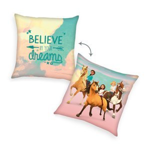 Herding Vankúšik Spirit Believe in your dream růžová, 40 x 40 cm