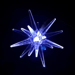 Sharks SA148 Solárne osvetlenie Závesná hviezda, 6,5 x 7 cm, IP44, studená biela