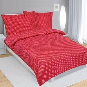 Bellatex Saténové obliečky červená, 140 x 220 cm, 70 x 90 cm