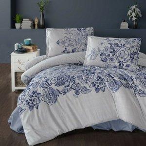 Kvalitex Flanelové obliečky Mandora modrá, 140 x 220 cm, 70 x 90 cm