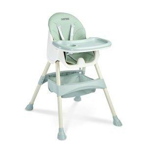 Caretero Jedálenská stolička 2v1 Bill mint, 63 x 75 x 92 cm