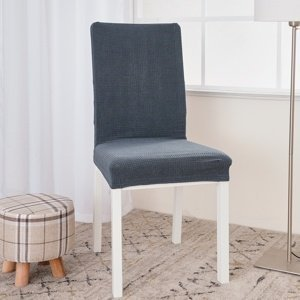 4Home Napínací vodeodolný poťah na stoličku Magic clean tmavosivá, sada 2 ks